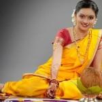 Shruti Marathe in lugra and saree