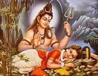 ज्या वेळी हिमालयाने पार्वती स्वयंवर रचले त्यावेळी सर्व देव,नाग,किन्नर एकत्रित होऊन आपापले आसन ग्रहण केले. त्यावेळी शिवप्रभुणे एक लीला केली व बालकाचे रुप पालटून त्यांनीही आंसन ग्रहण केले. त्यां बालकाचा...
