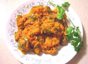 Dhobli mirchi veg, capsicum veg recipe